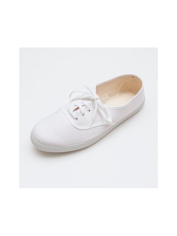 Zapatilla inglesita blanca